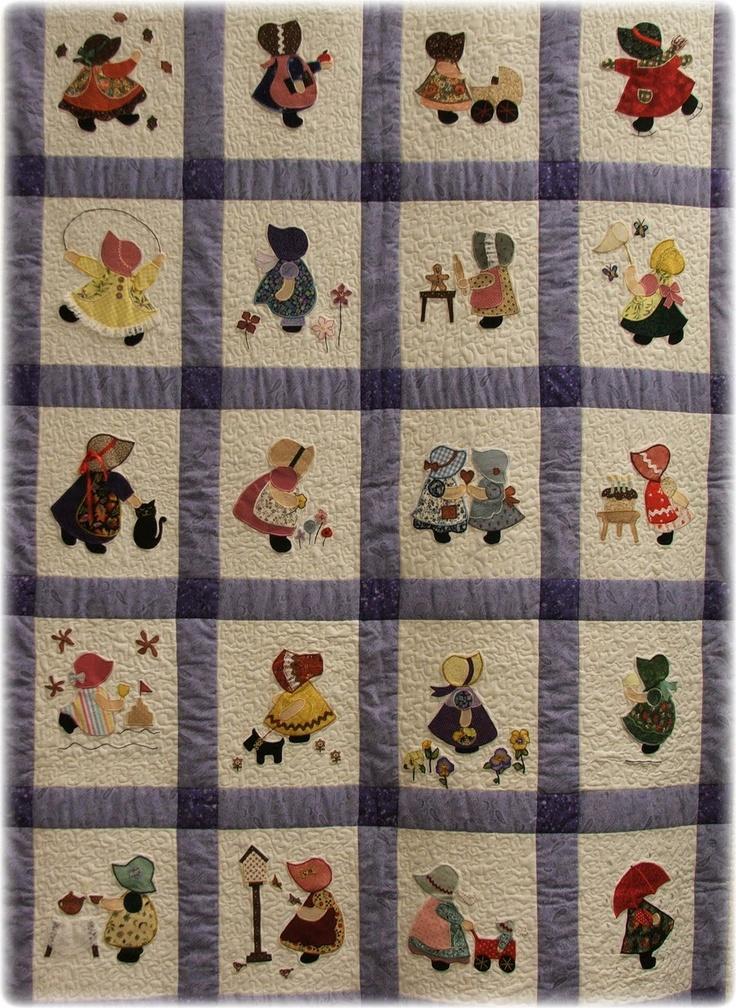 Monthly Calendar Quilt Patterns : Best images about quilts sunbonnet sue on pinterest