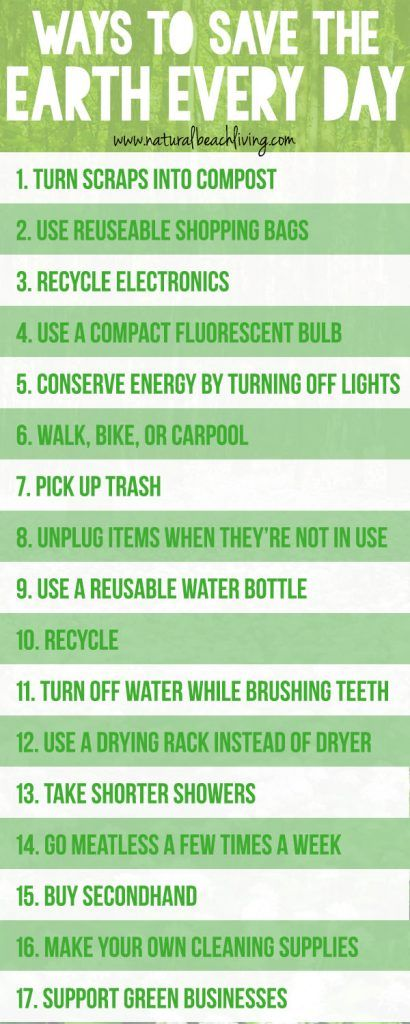 20 Easy Ways To Save The Earth Every Day Natural Beach Living