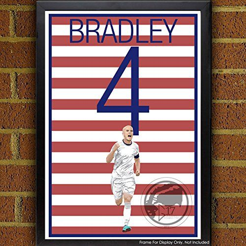 Michael Bradley United States Men's National Team Poster. USMNT's Michael Bradley Art Poster. Bradley Artwork Sizes Available: 8.5x11 inches 13x19 inches Poster printed on 100% acid-free premium archival fine art paper. The image comes with 1/2 inch white border border all around for easy framing. All items are shipping in rigid mailing tube to ensure it arrives in good condition.