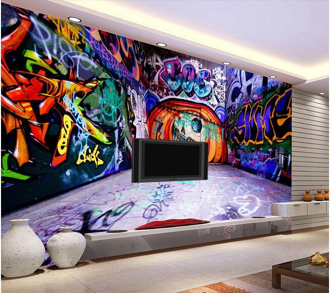 13 best graffiti images on pinterest graffiti wallpaper for Graffiti bedroom designs
