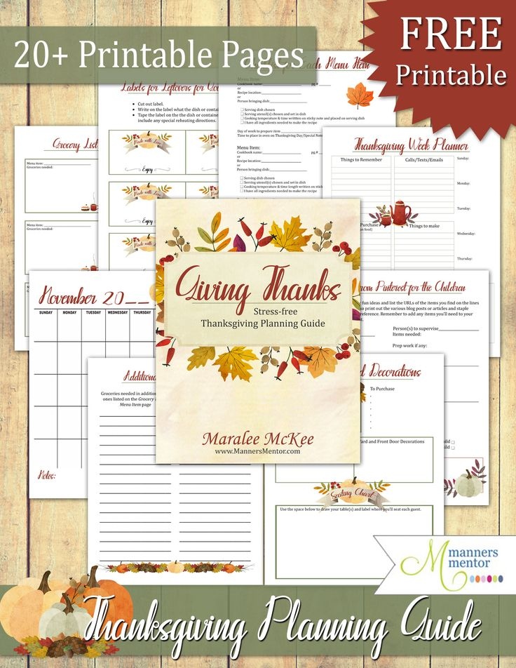 70 best basic manners teaching images on pinterest manners a wonderful thanksgiving printable planner for your most gracious organized and stress free stopboris Gallery