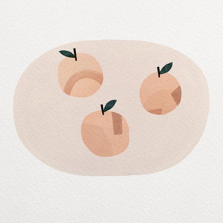 Peach illustration, texture, collage, peach, fruit, food, colour