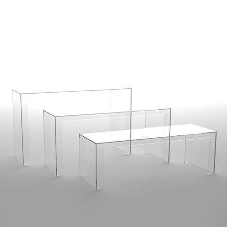 Acrylic Furniture Is Special Designed For Italian Brand Named Kartell The  Invisible Light: Transparent Table From Tokujin Yoshioka