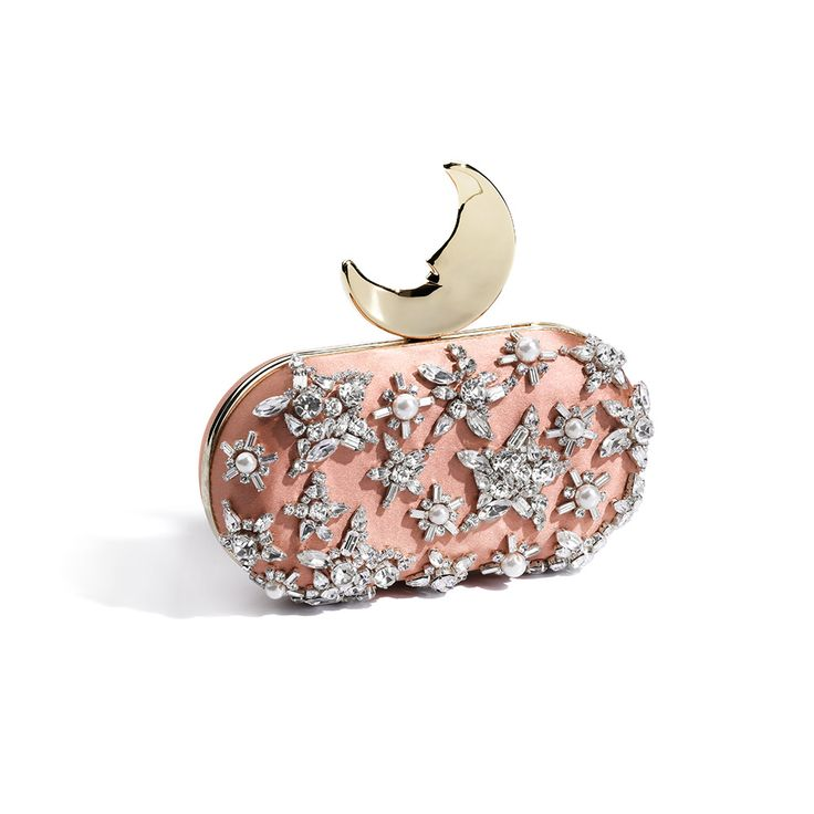 BENEDETTA BRUZZICHES @swarovski CRYSTALS SMILING MOON CLUTCH - LUXURY SHOPPING WORLDWIDE SHIPPING - FLORENCE