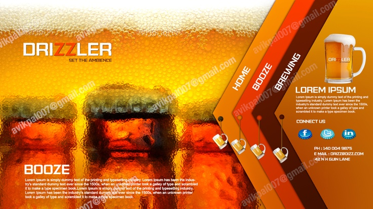 Drizzler is a Beer website design
