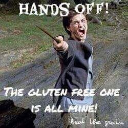 HANDS OFF! hahaha #glutenfree