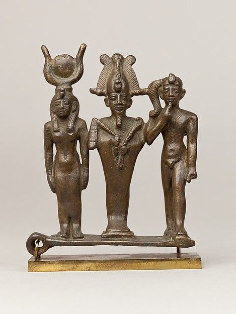 Triad of Osiris, Isis, and Horus. Egypt, Late or Ptolemaic Period, 664-30 B.C.