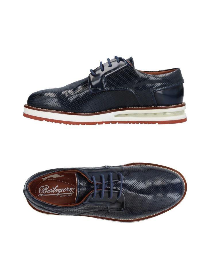 Lace-Up Shoes, Dark Blue. BARLEYCORN .