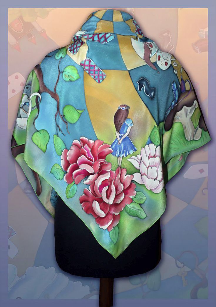 Excited to share the latest addition to my #etsy shop: Silk Shawl Alice in Wonderland Batik scarf, Handmade silk scarf, Colorful scarf, Silk scarves for women, Big carf, hand painted scarf http://etsy.me/2nVq0yr #accessories #scarf #rainbow #birthday #christmas