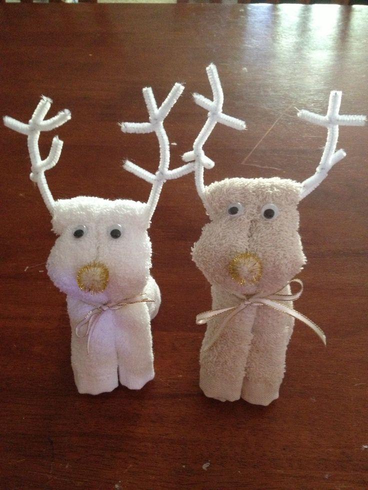 Towels Animals - Zwierzęta z ręczników - Origami z ręczników - Reindeer towels