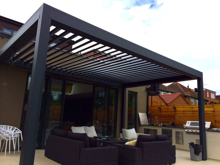 Good This Outdoor Living Pod, Louvered Roof Patio Canopy Installation In  Chiswick Has Completely Transformed This