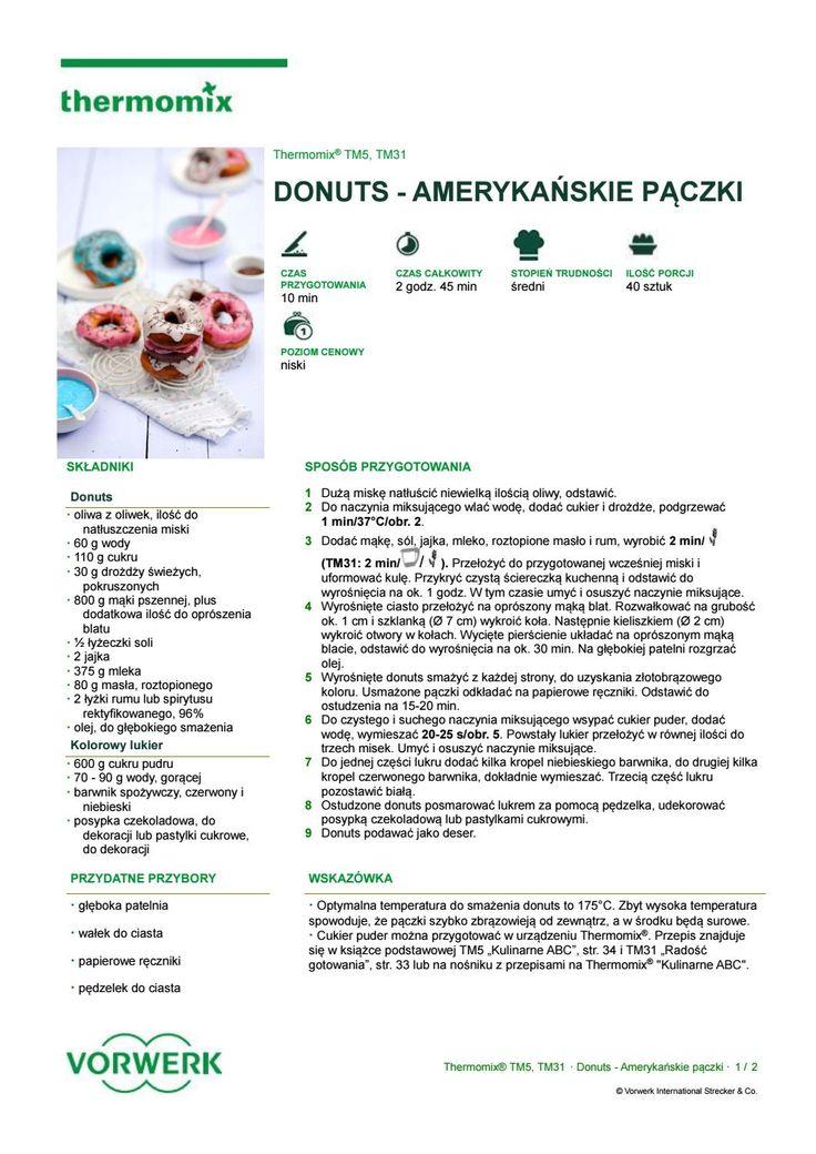 Donuts amerykanskie paczki