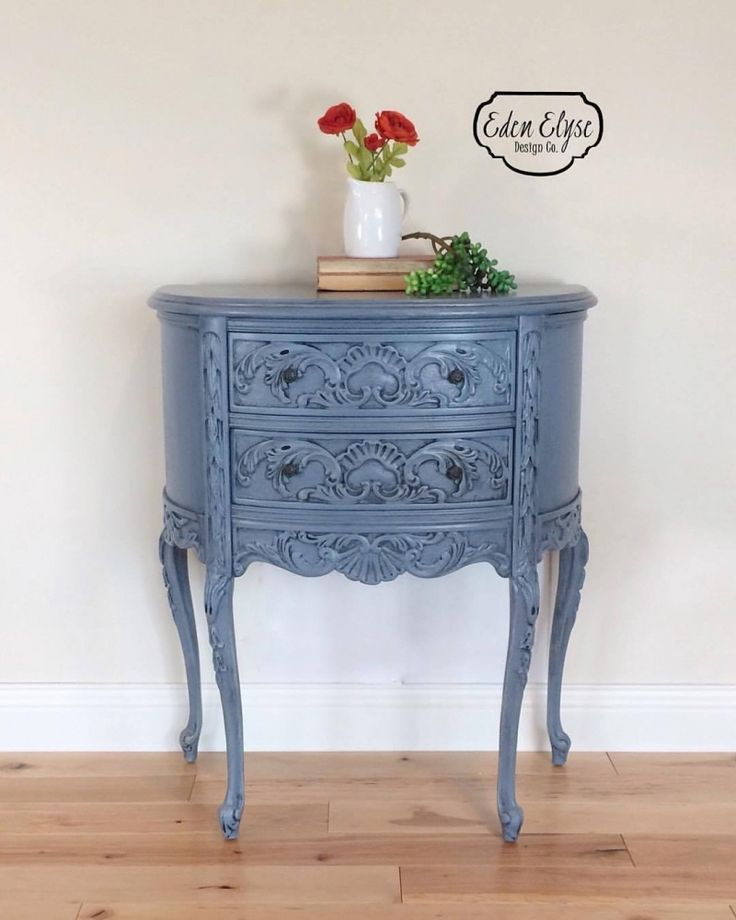 Nice Stillwater Blue Accent Table