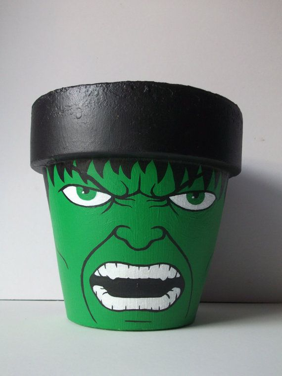 Game idea: paint pots & do a beanbag toss.  Participants get a prize if they make it in the Hulk pot.