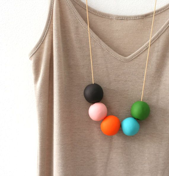 not quite round handmade beads make a necklace by notTuesday, $45.00: Handmade Beads, Sisi Jewels, Round Handmade, Pretty Necklaces