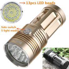 US $20.00 Powerful LED Flashlight Cree XML T6 5000 Lumen High Power Flashlight 18650 Searchlight Torcia torch light lanterna hunt camping. Aliexpress product