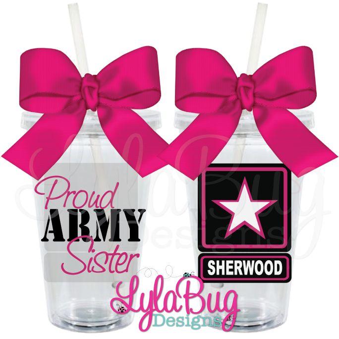 Proud Army Sister Tumbler LylaBug Designs