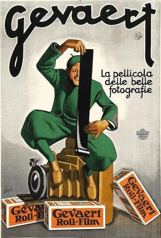 PRIMA, MA MOLTO PRIMA DEL DIGITALE... La grafica di Gino Boccasile per la reclame delle pellicole Gevaert (1932)