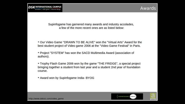 Learn the science of Game Design at DSK Supinfogame video game school in India.