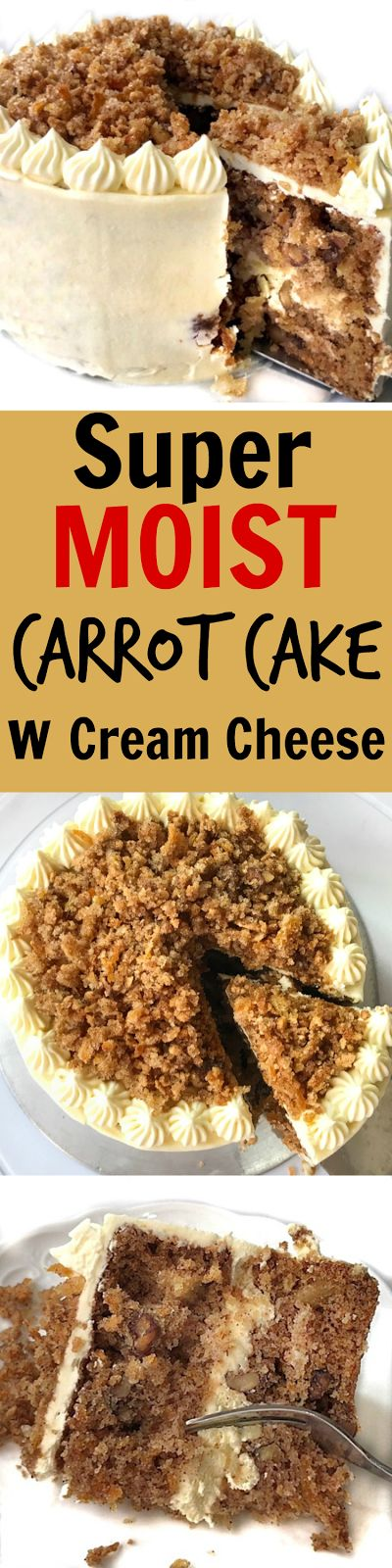 Super Moist Carrot cake with cream cheese frosting..