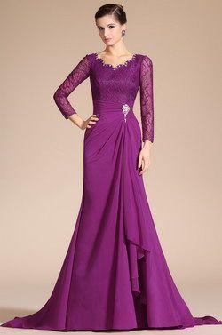 2014 Neu Reizvolle V-Ausschnitt Lace Spitze Ärmel Kleid der Mutter von Braut(C26140312)