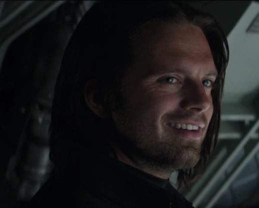 """writersblockstanfever: """" this is a screen-grab I got the other day I just love his smile here - he's so beautiful and he did such an amazing job as Bucky. So proud to be a fan."""