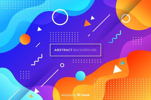 Download Flat Abstract Rounded Shape Background For Free Desain Banner Kreatif Desain