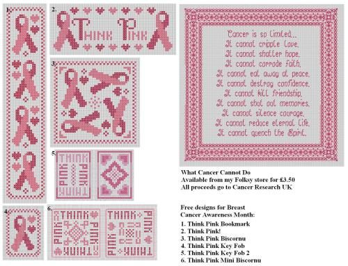 breast cancer cross stitch