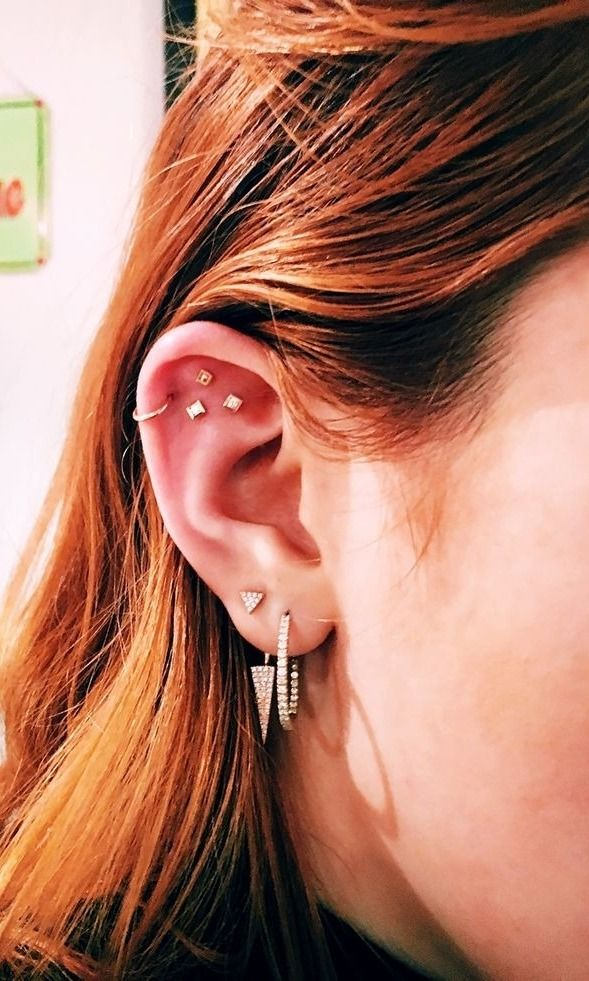 You need to try these gorgeous ear-piercing combinations now...