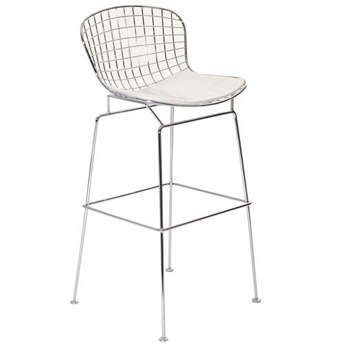 Cad Bar Stool In White Modway Furniture Counter Height (18 To 26 Inch) Bar Stools Kitchen
