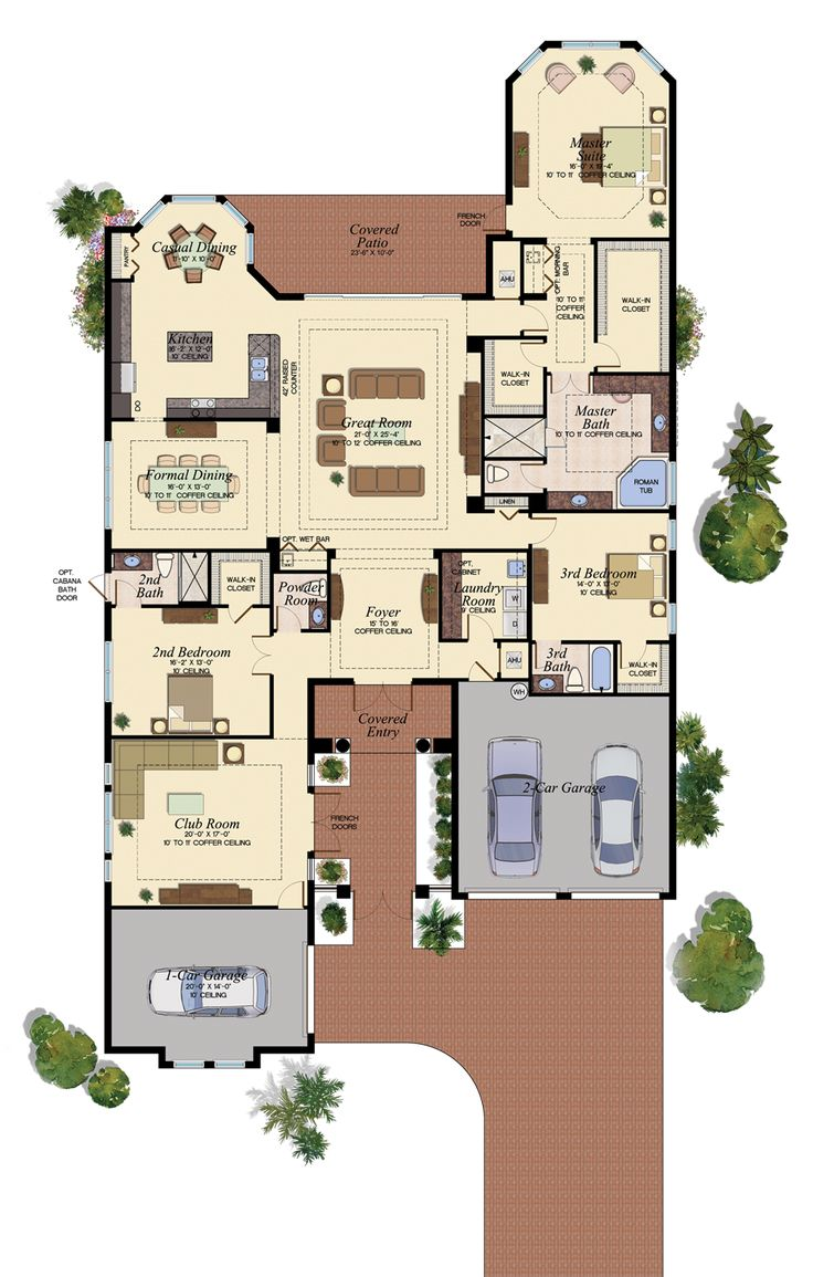 96 best Florida Homes - Favorite Floorplans images on Pinterest ...