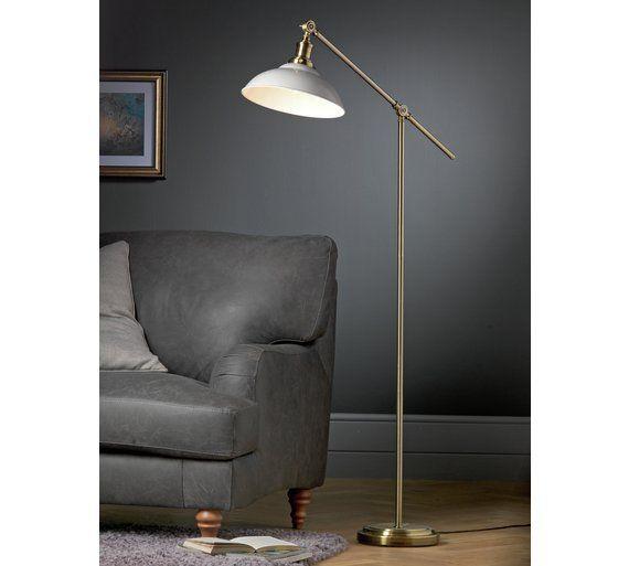 Buy Argos Home Tudway Floor Lamp Grey Floor Lamps