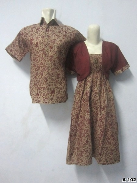 Batik Dress Couple A102 | IDR 135.000 | bahan : Katun | Size M, L, XL | Order : 081333303545
