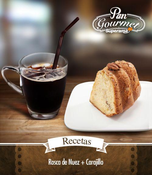 Los frutos secos combinan bien con un digestivo. Te recomendamos una rebanada de esta rosca de nuez con un #carajillo. #Receta de #Carajillo: En un vaso con hielos sirve Licor 43 y añade una taza de café espresso. ¡Disfruta!