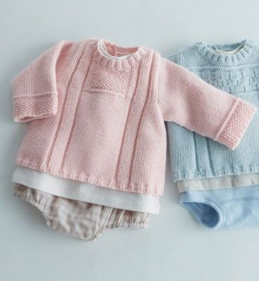 Merinos alpaga baby truitje vanaf geboorte om zelf te breien | C.R. Couture