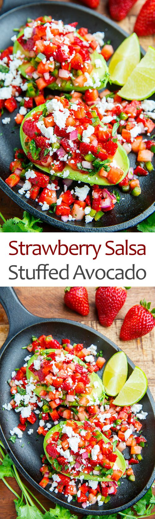 Strawberry Salsa Stuffed Avocado