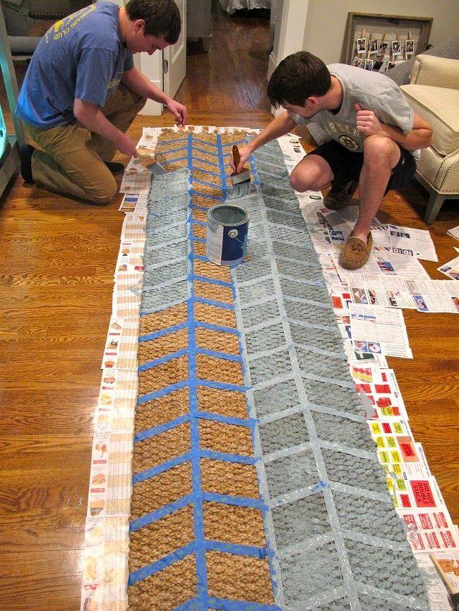 Diy Painted Jute Rug Mac Amp Marlborough Jute Rug Rugs