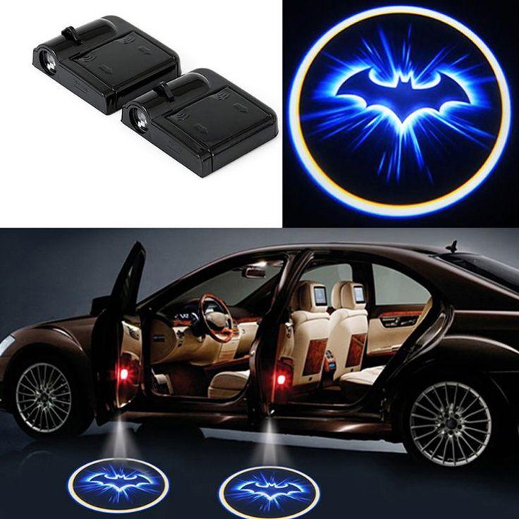2x LED del Portello di Automobile Benvenuto Luce Laser Portello di Automobile Ombra led proiettore Logo Batman Wireless Auto Porta Benvenuto per tutte le Auto BMW