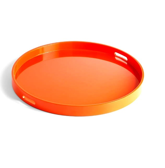 trays  round orange lacquer tray  so beautiful  one of luxury homes hollywood hills luxury homes hollywood hills california