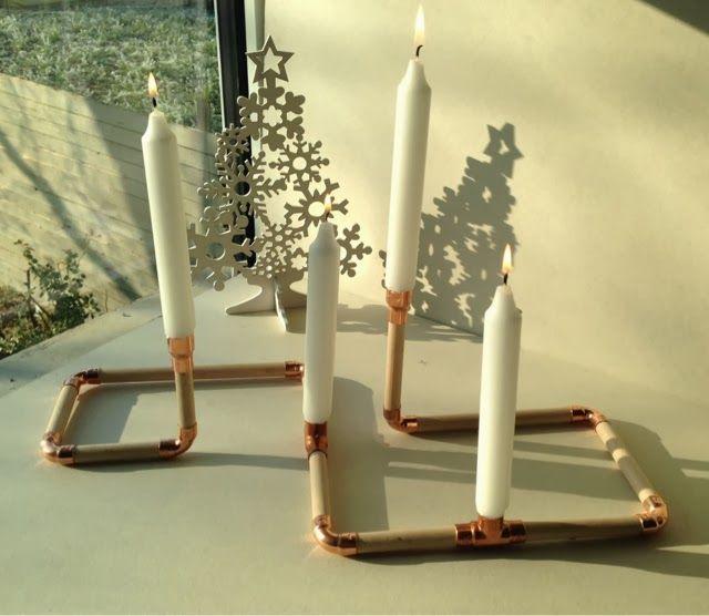 Caracterielle: DIY: scandinavian wooden candlestick and copper