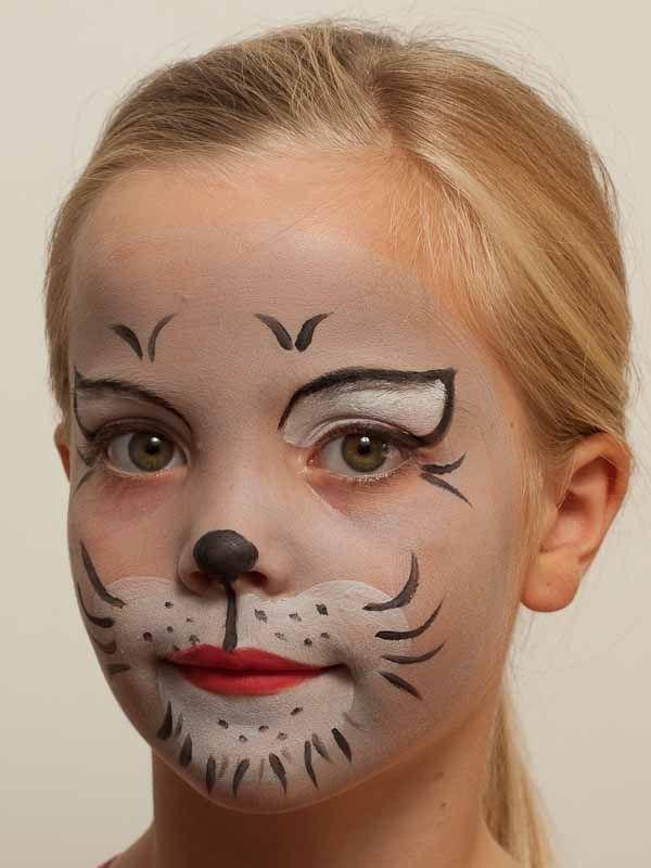 Kinderschminken Katze - fertig