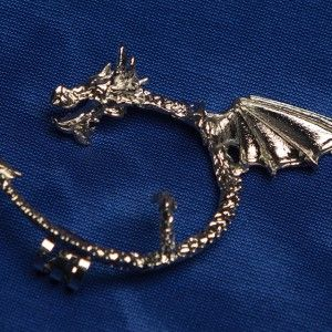 "Dragon ear-cuff-clip earring (left ear) inspired by ""Game of Thrones"" – Silver - http://nerdipop.co.za/product/dragon-ear-cuff-clip-earring-left-ear-inspired-game-thrones-silver/"
