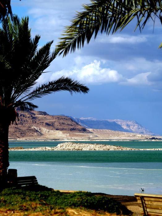 The Dead Sea which rests in between Israel and Jordan. Not only is it beautiful and fun to float in, but it is the lowest place on earth at about 1300 feet below sea level.