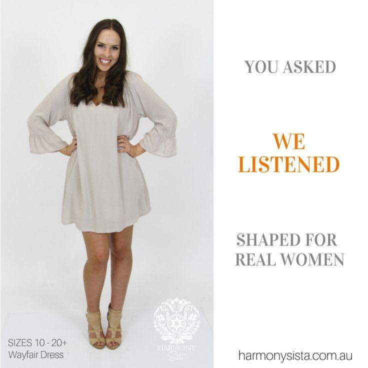 We Listen ....... Fashion that fits real women SiZES 10-20+ www.harmonysista....