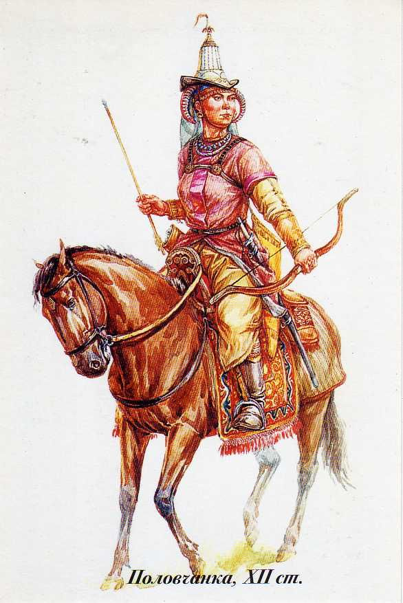 "Kipchak steppe female warrior. ""Kipchaks were a Turkic tribal confederation. They conquered large parts of the Eurasian steppe during the Turkic expansion of the 11th to 12th centuries together with the Cumans, and were in turn conquered by the Mongol invasions of the early 13th century."" http://www.flickr.com/photos/10072349@N05/6345711819/sizes/l/in/photostream/"