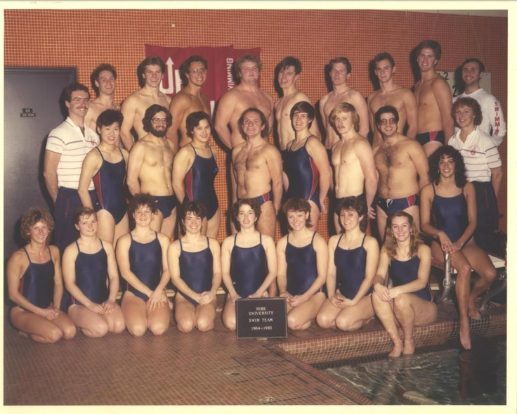 It's Thursday and we're throwing back to the 1984-85 swim team! #tbt