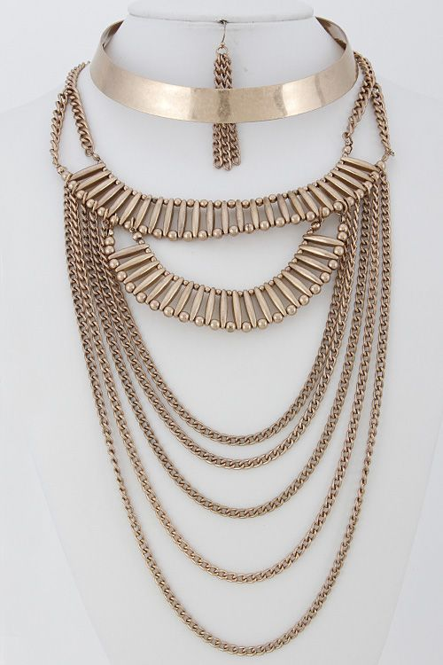 Queen Amina Layered Cuff Necklace