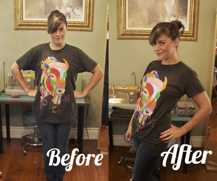 Sally Ann: DIY band t-shirt reconstruction.  Making a too-big t-shirt into a more fitted one.