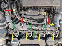 Traces d'huile autour d'un injecteur  Maladie des moteurs Hdi Peugeot/Citroën les joints d'injecteurs ont tendance à fuir précocement. Perte de puissance, moteur bruyant, fumée, odeur dans...