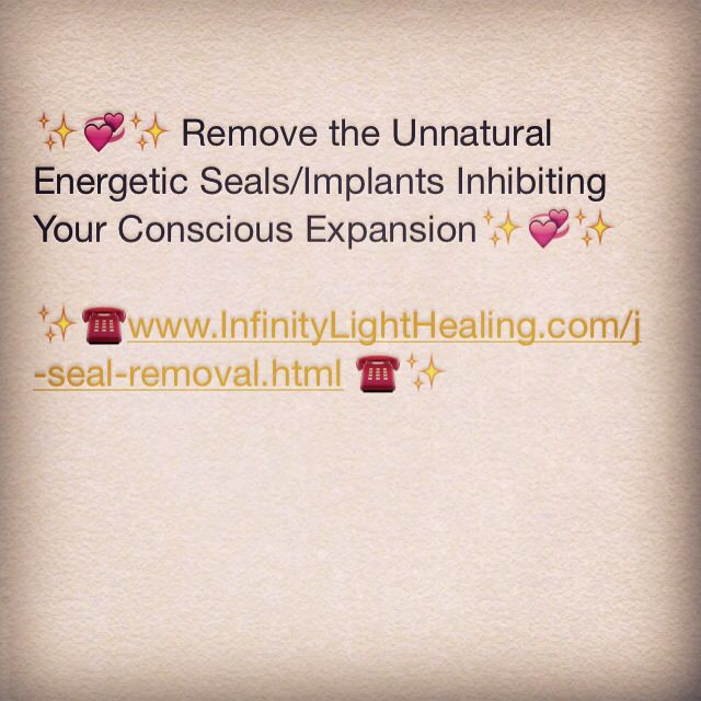 ✨ Remove the unnatural energetic seals / implants inhibiting your conscious expansion!